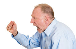 Angry older man Royalty Free Stock Photos