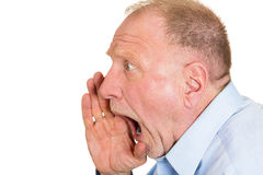 Angry older man Stock Photo