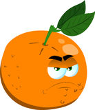 Angry orange Stock Image