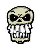 Angry painted skull Stock Photos