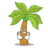 Angry palm tree character cartoon Royalty Free Stock Photo