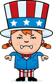 Angry Patriotic Child Royalty Free Stock Photo