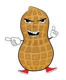 Angry peanut cartoon character Royalty Free Stock Photos