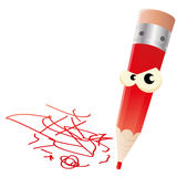 Angry pen Royalty Free Stock Photos