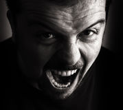 Angry person portrait Royalty Free Stock Photo