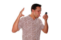 Angry phone call Stock Image
