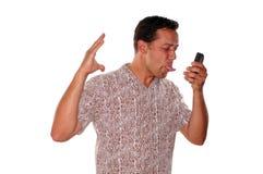 Angry phone call Stock Image