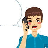 Angry Phone Conversation Royalty Free Stock Photo