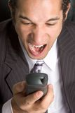 Angry Phone Man Royalty Free Stock Image