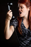 Angry Phone Woman Royalty Free Stock Image