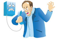 Angry Phoneman Stock Image