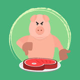 Angry pig and no pork Stock Photography