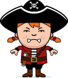 Angry Pirate Girl Stock Image