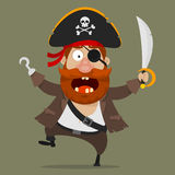 Angry pirate with sword Royalty Free Stock Images
