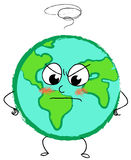 Angry planet earth stock image