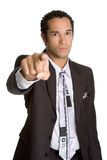 Angry Pointing Businessman Royalty Free Stock Photo