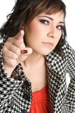 Angry Pointing Woman Stock Image
