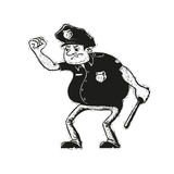 Angry police officer Royalty Free Stock Image