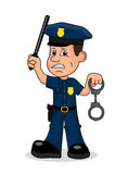 Angry police officer vector illustration. On the image presented Angry police officer vector illustration Royalty Free Stock Photography