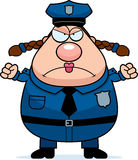 Angry Police Woman Royalty Free Stock Images