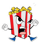 Angry Pop corn cartoon Royalty Free Stock Photo