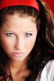 angry portrait woman Στοκ φωτογραφία με δικαίωμα ελεύθερης χρήσης