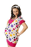 Angry pregnant woman Royalty Free Stock Photo