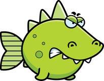Angry Prehistoric Fish Royalty Free Stock Image