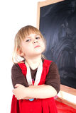 Angry preschool with crossed arms Stock Photography