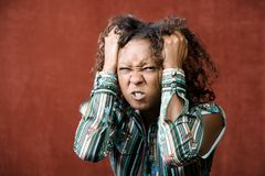 Angry Pretty African-American Woman Stock Photos