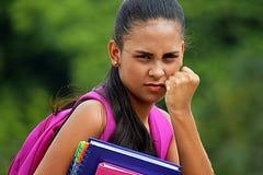 Angry Pretty School Girl stock photos