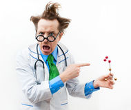 Angry professor Stock Photography