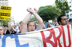 Angry protesters. Stock Images