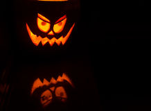 The angry pumpkin Stock Images