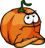 Angry pumpkin with folded arms Stock Image