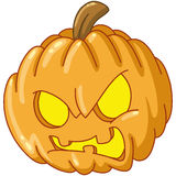 Angry pumpkin Stock Images