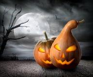 Angry pumpkins Stock Photos