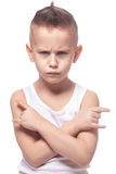 Angry punk boy. On isolated white Royalty Free Stock Photography
