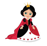 Angry Queen of Hearts from Wonderland. Royalty Free Stock Photo