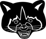 Angry_raccoon_B&W royalty free illustration