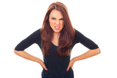 Angry and rage woman Stock Images