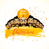 Angry Ravana for Happy Dussehra celebration. Stock Images