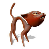 Angry red cat. 3d illustration Stock Photography