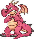 Angry red dragon Royalty Free Stock Photography