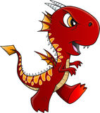 Angry Red Dragon Stock Images