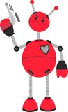 Angry Red Robot holding Ray Guy royalty free illustration