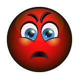 Angry red smiley emoticon. Vector stock Stock Photos