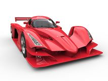Angry red super race car stock illustration