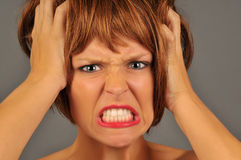 Angry Redhead Royalty Free Stock Photography
