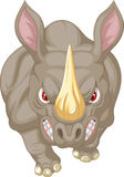 Angry rhino cartoon character Royalty Free Stock Photography